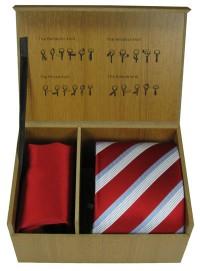 Krawatte mit Einstecktuch im Set